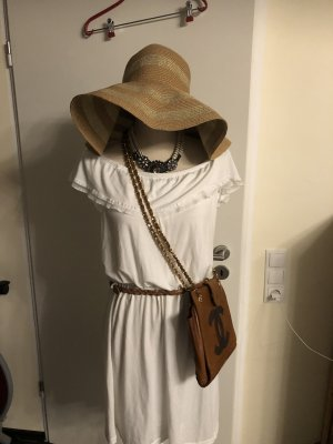 Yessica Robe Hippie blanc-marron clair