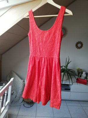 AJC Lace Dress salmon-bright red