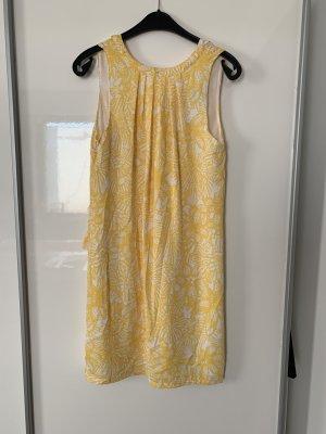 H&M Vestido babydoll naranja dorado-blanco Poliéster