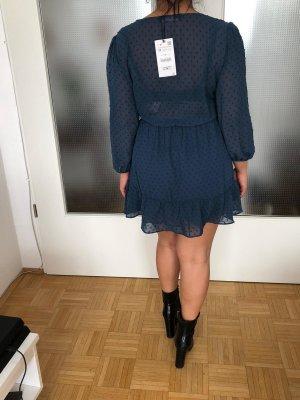 Zara Vestido estilo flounce multicolor Poliéster