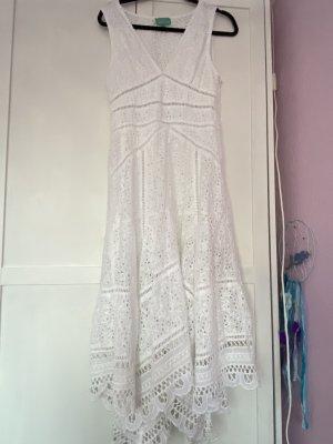 Antica Sartoria A-lijn jurk wit Katoen