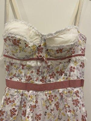 Dolce & Gabbana Sukienka z gorsetem biały-różany Bawełna