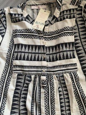 Bellybutton Summer Dress black-oatmeal linen