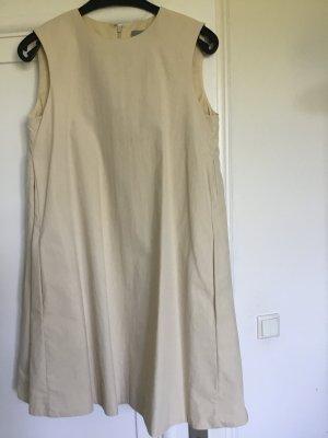 COS A Line Dress oatmeal cotton