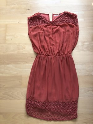 Only Hippie Dress brick red