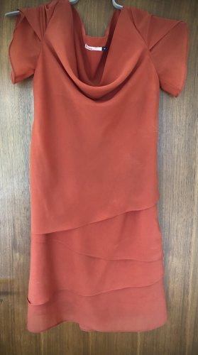 2Two Letnia sukienka pomarańczowy neonowy-ciemny pomarańcz