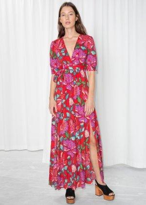 & other stories Hippie Dress carmine-raspberry-red