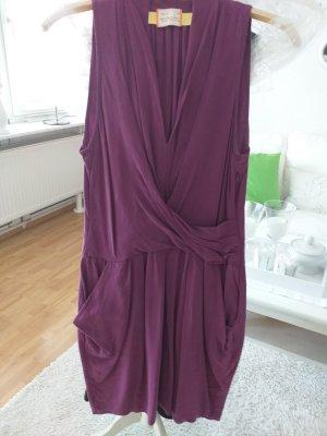 Sienna Sukienka z rękawem balonowym fioletowy Lyocell
