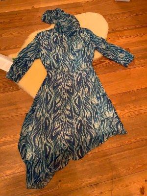 Patrizia Pepe Robe d'été bleuet viscose