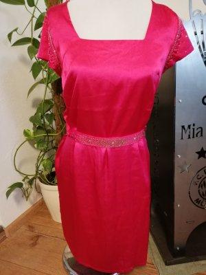 Sommerkleid pink mit Gürtel Gr. 40