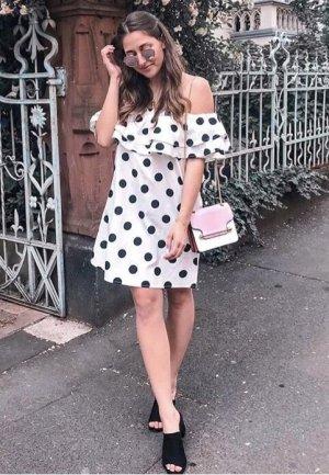 Sukienka typu babydoll biały