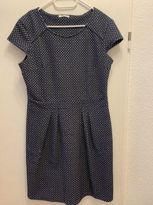Promod Vestido de Verano blanco-azul oscuro