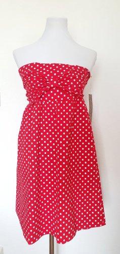 Sommerkleid rot weiss gepunktet Pünktchen Kleid Gr 38 Polka Dots