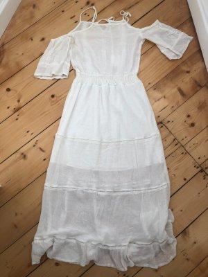 no name Sukienka boho biały