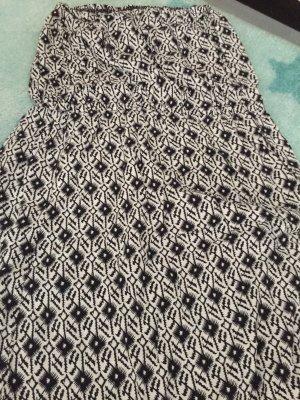Off-The-Shoulder Dress black-white mixture fibre