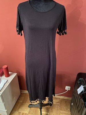 La Riviera Robe à franges noir