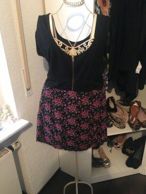 Sommerkleid -schwarz mit Blumenmuster