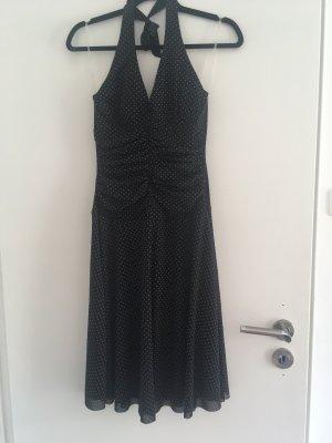 Sommerkleid, schwarz mit weißen Punkten