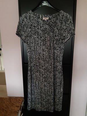 Anne L. Sukienka z krótkim rękawem biały-czarny