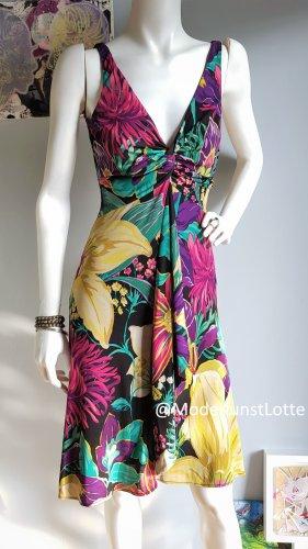 Sommerkleid// Seidenkleid mit großem Blumenprint >>>>>>>>20% OFF AUF KLEIDER IM JULI<<<<<<<<<