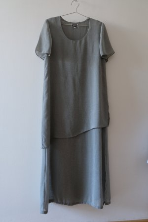 Versace Shortsleeve Dress silver-colored-grey cotton