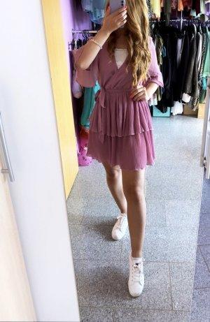 Abendkleid Robe chiffon multicolore tissu mixte