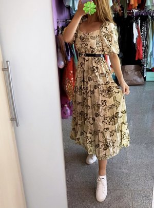 Abendkleid Sukienka o kroju litery A Wielokolorowy