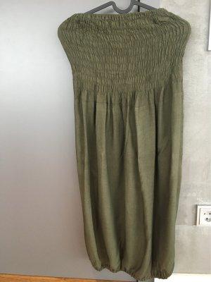 Sukienka gorsetowa khaki