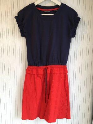 Tommy Hilfiger Mini-jurk rood-donkerblauw