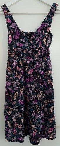 Sommerkleid / Träger-Minikleid von H&M mit Schmetterlings-Muster, Größe 36