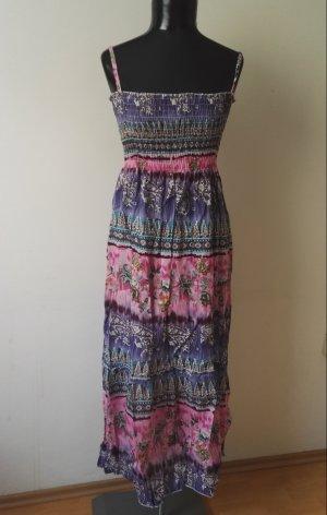 Sommerkleid Trägerkleid Maxikleid Kleid in Lila/Rosa Gr.36-38