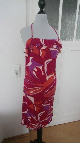 Sommerkleid- Trägerkleid mit Volantausschnitt- Kleid - Größe M