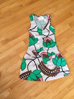 Sommerkleid#V-Ausschnitt#Bunt#Stretchkleid#Größe L