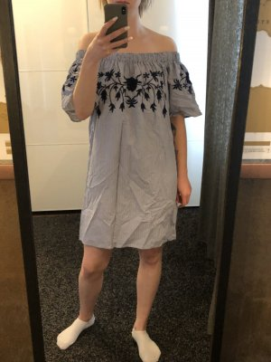 Vero Moda Off the shoulder jurk wit-donkerblauw