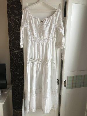 Alberta Ferretti Vestido línea A blanco Algodón