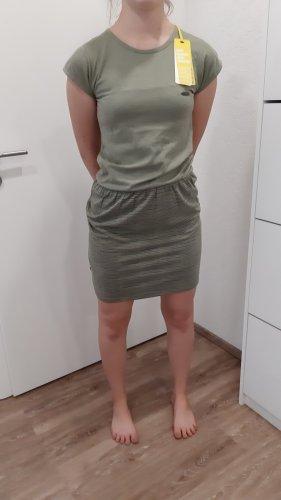 Alife & Kickin Letnia sukienka szaro-zielony-zielono-szary