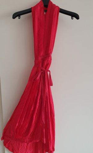 Armani Jeans Vestido de cuello Halter rojo frambuesa