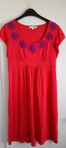 Boden Empire Dress red-violet cotton