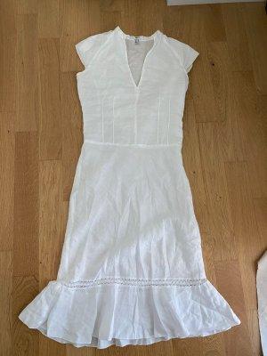 Mango Sukienka z baskinką biały