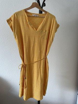 Part two Jersey Dress yellow-white