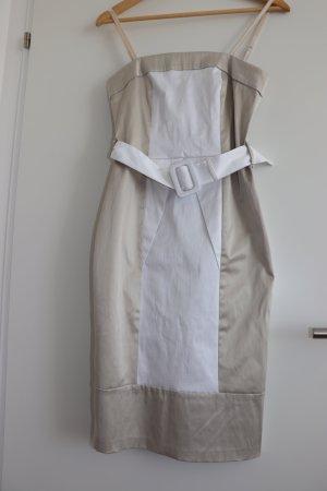 Rinascimento Robe bustier beige-blanc coton