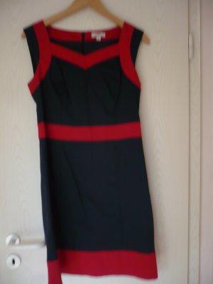 Anastacia by s.Oliver Off-The-Shoulder Dress red-blue cotton