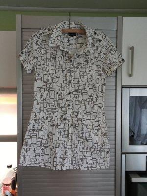 Sublevel Mini Dress white-grey brown cotton