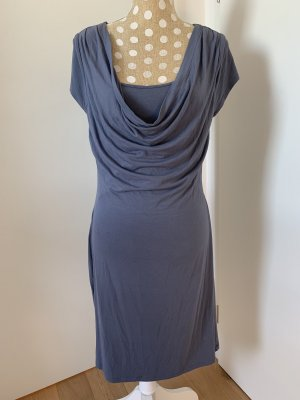 Vestido de tela de jersey gris pizarra