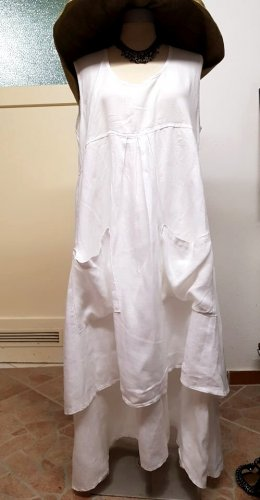 Sommerkleid weiß Leinen Größe M