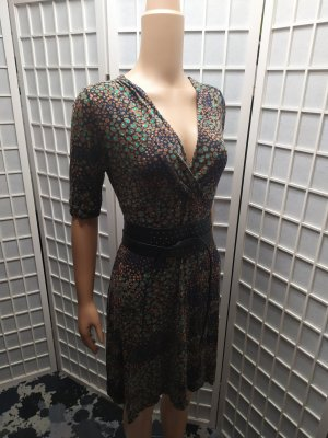 Sommerkleid Wickelkleid Kleid mit Musterung Retro  M