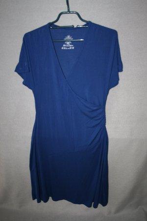 Sommerkleid Wickeloptik blau Gr. 36/38 von Fashion Safari - wie NEU