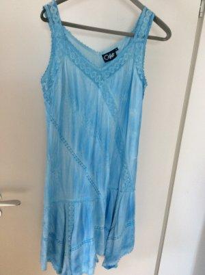 Coline Summer Dress neon blue viscose