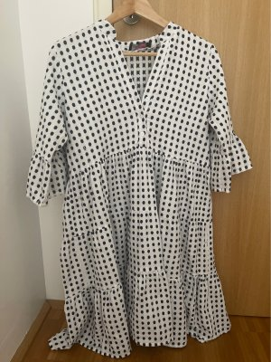 Zwillingsherz Summer Dress white-dark blue