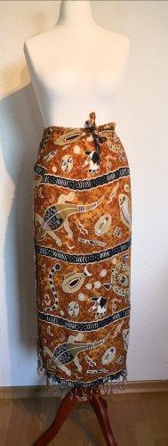 Falda cruzada multicolor